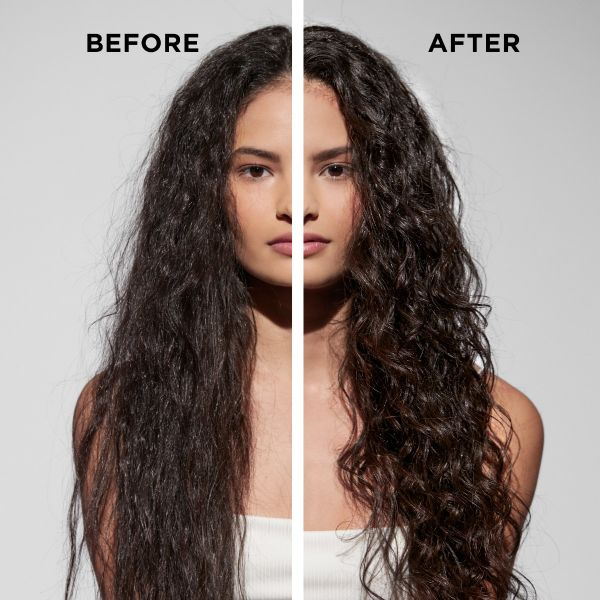 Wavy to Curly Hair Routine with Cream Leave In